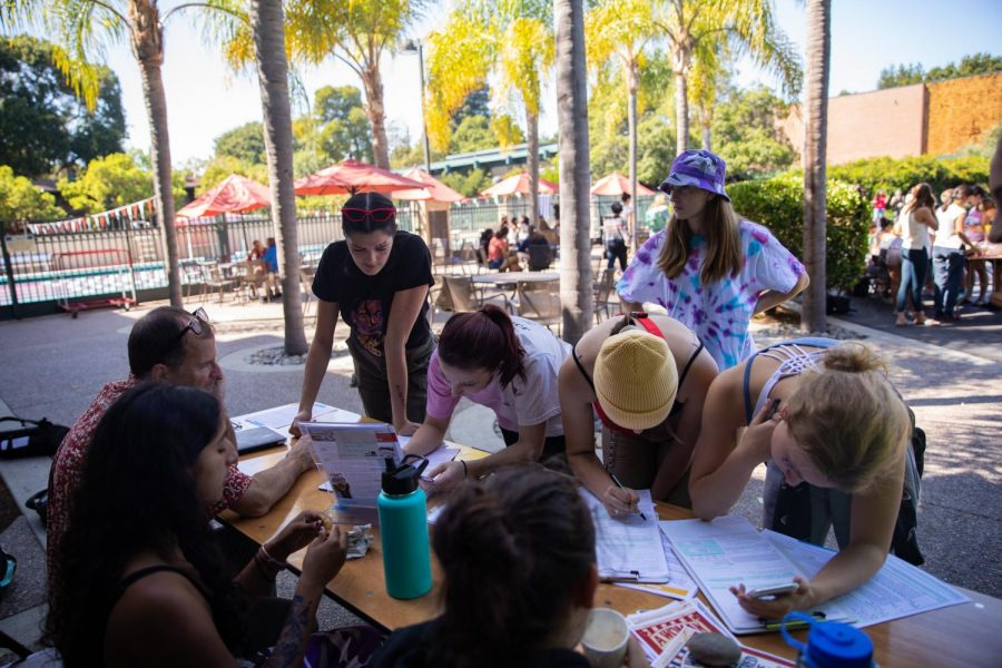 Back in September 2019, many eligible Castilleja students registered to vote near the Pool Patio.