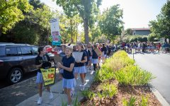 Students marched around campus during Castilleja's 2019 Global Climate Strike Walkout