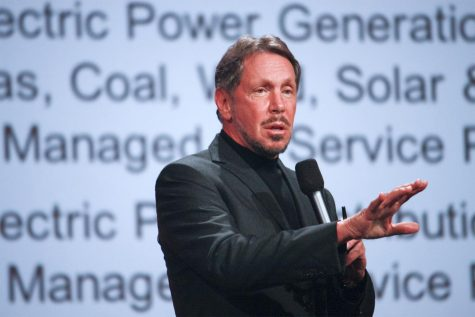 Larry Ellison, the founder of Oracle, speaks at a 2012 conference