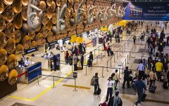 A photo of the Indira Gandhi International Airport's immigration area.